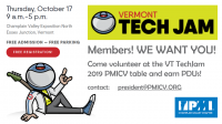 Vermont TechJam 2019 - Member Volunteers Needed
